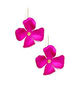 Zenzii Zenzii Threader Pull-Through Earring Hot Pink
