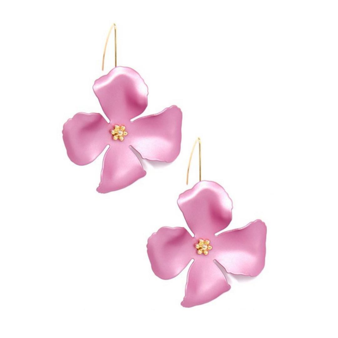 Zenzii Zenzii Threader Pull-Through Earring Pink