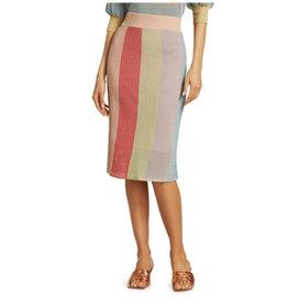 ML Monique Lhuillier ML Monique Lhuillier Stripe Midi Skirt
