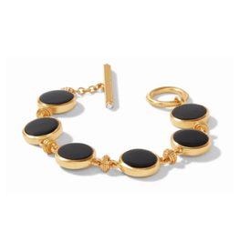 Julie Vos Julie Vos Coin Double Sided Bracelet gold Black Onyx
