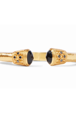 Julie Vos Julie Vos Paris Demi Hinge Cuff Gold Faceted Black Onyx
