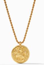 Julie Vos Julie Vos Coin Statement Pendant Necklace Gold Black Onyx