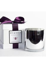B's Knees Fragrance Co. B's Knees 3 Wick Candles White Glass
