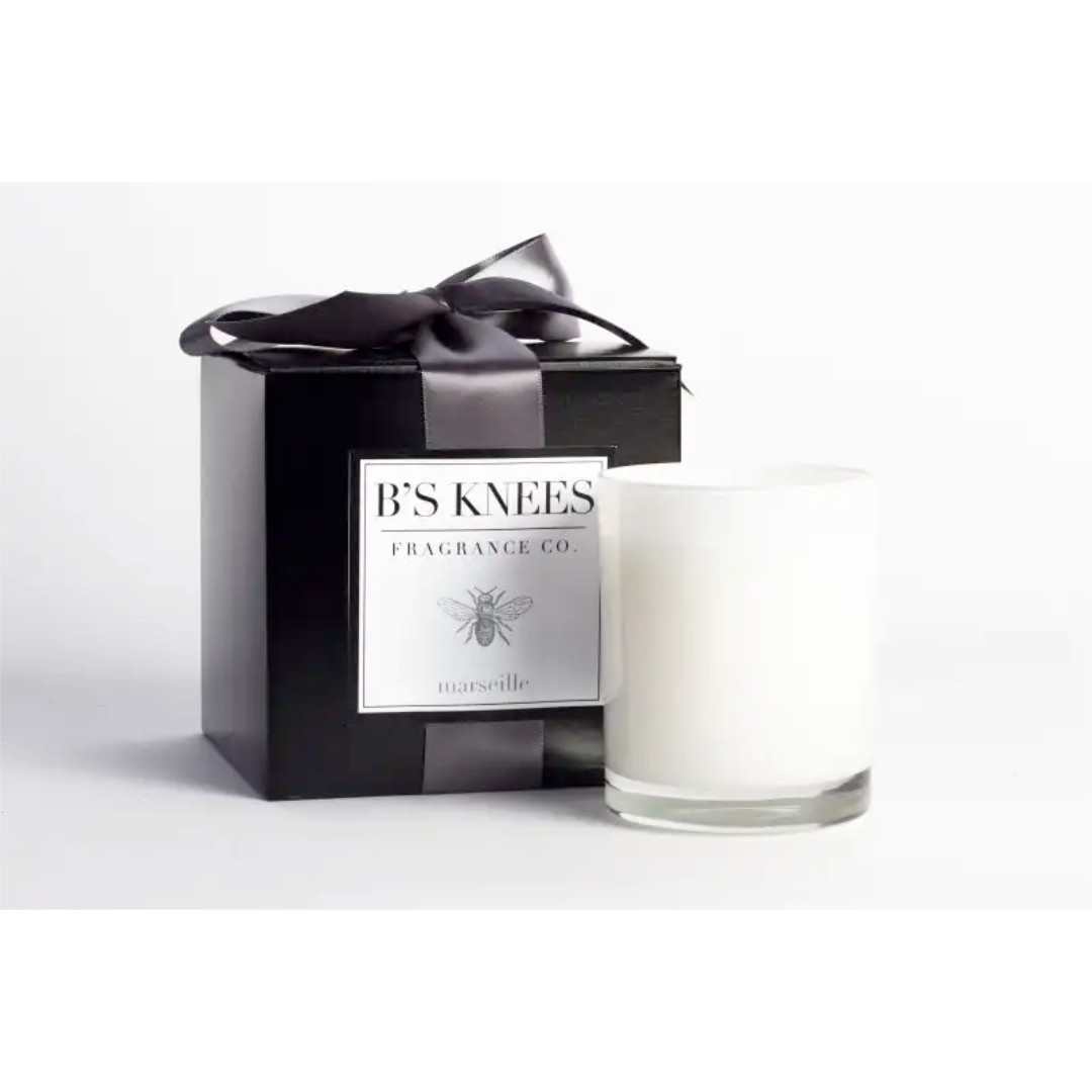 B's Knees Fragrance Co. B's Knees Marseille 1 Wick White Candle