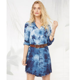Fifteen Twenty Fifteen Twenty Tie Dyed Shirt Dress