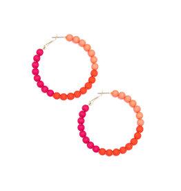 Zenzii Zenzii Gradient Glam Hoop Earring Pink Multi