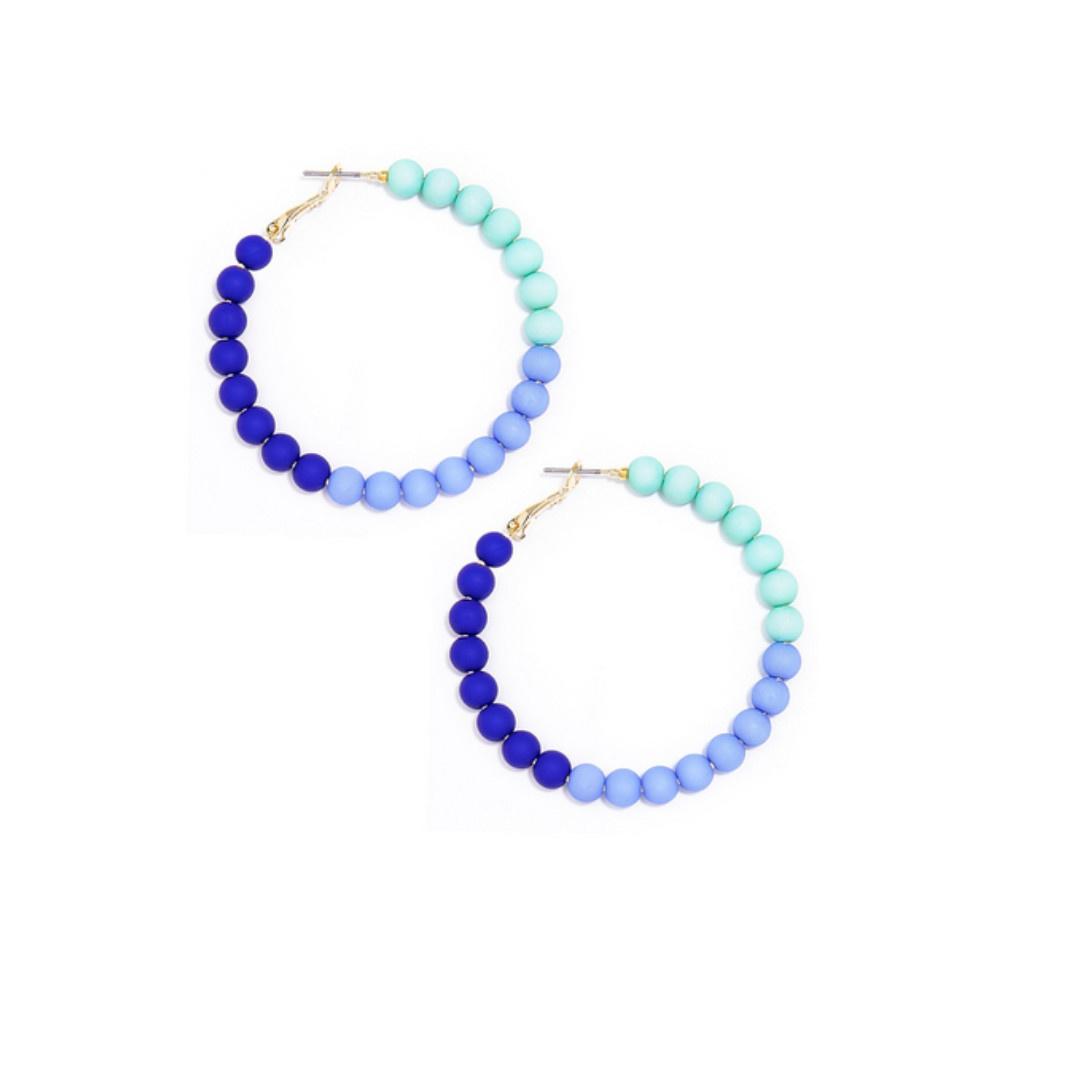 Zenzii Zenzii Gradient Glam Hoop Earring Blue Multi