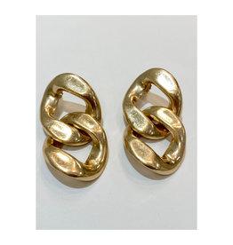 Zenzii Zenzii Today and Always Link Drop Earring Gold