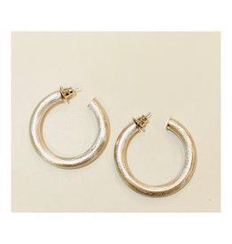 Betty Carre Betty Carre Chambord Mid Hoop Silver Earrings
