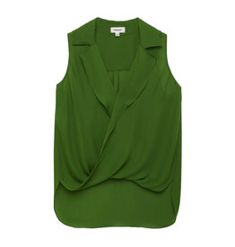 L'AGENCE L'AGENCE Freja Sleeveless Draped Blouse