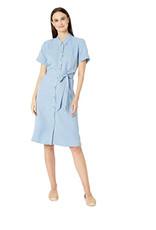 Eileen Fisher Eileen Fisher Classic Collar Dress W/ Belt