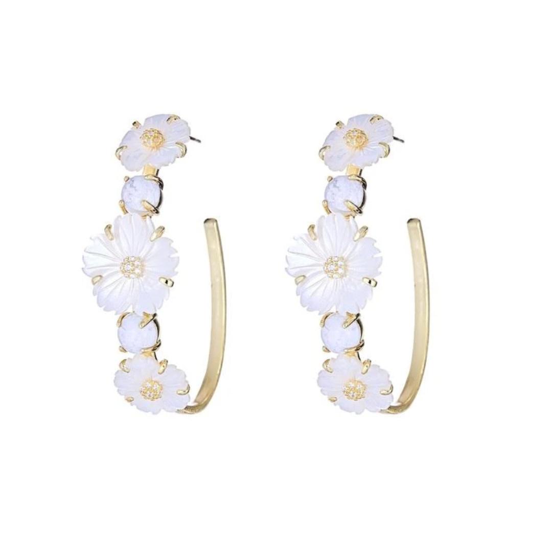 Cristina Sabatini Consignment Cristina Sabatini Flower Garland Earring White