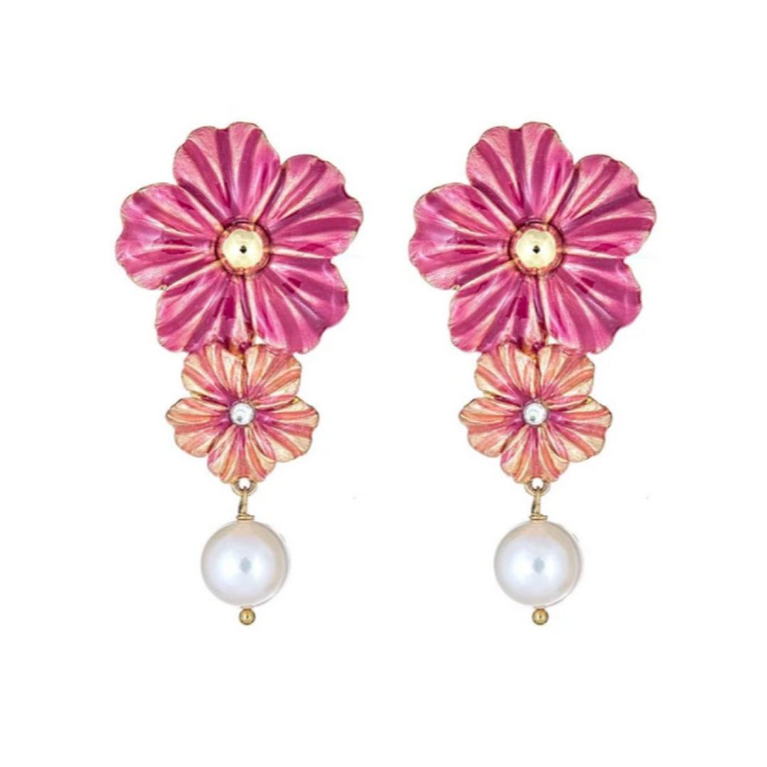 Cristina Sabatini Consignment Cristina Sabatini Poppy Pearl Earring Fuschia