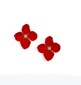 Zenzii Zenzii Large Painted Flower Earring
