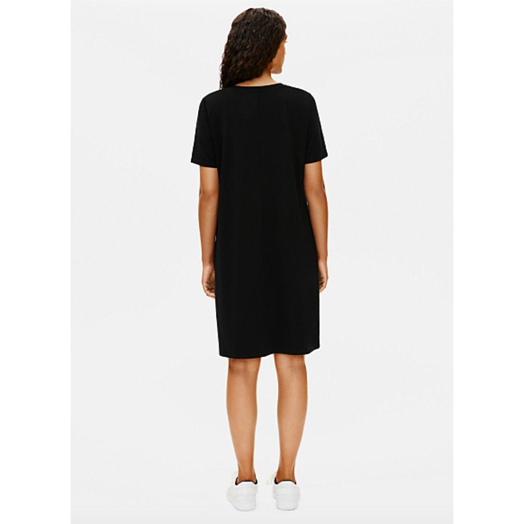 Eileen Fisher Eileen Fisher V-Neck Short Sleeved Dress