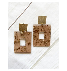 Virtue Jewelry Virtue Jewerly Acrylic Rectangle On Square Post