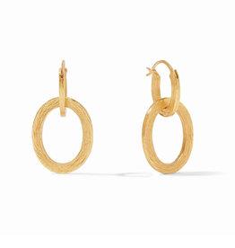 Julie Vos Julie Vos Aspen 2 in 1 Earring Gold