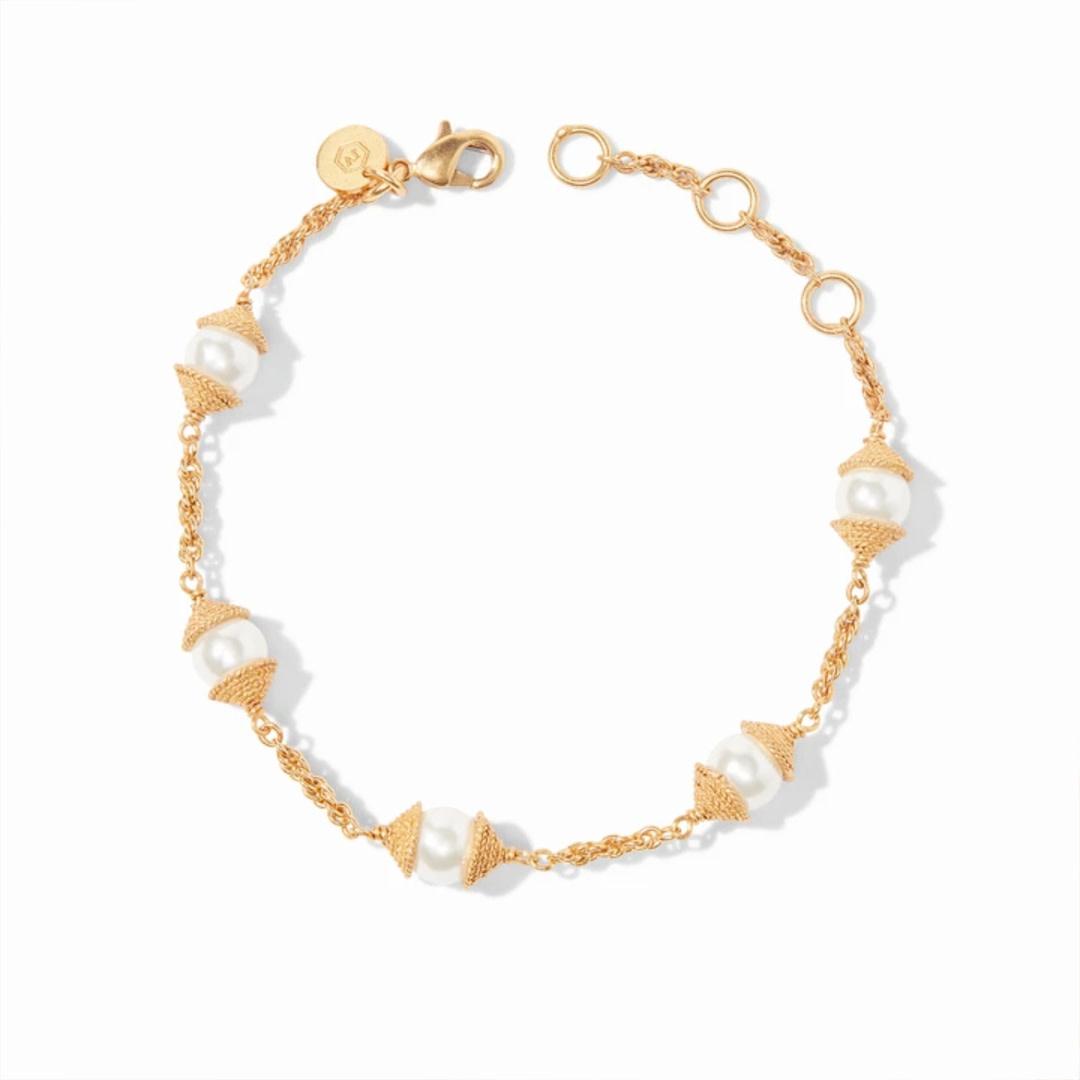 Julie Vos Julie Vos Calypso Pearl Delicate Bracelet Gold