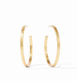 Julie Vos Julie Vos Crescent Hoop Gold L