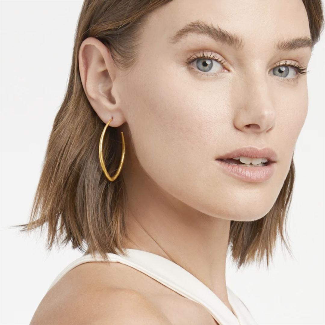 Julie Vos Julie Vos Fleur-de-lis Hoop Gold L