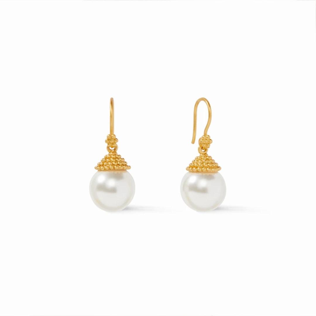 Julie Vos Julie Vos Florentine Demi Pearl Earrings Gold