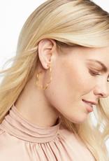 Julie Vos Julie Vos Gardenia Textered Hoop Earrings Gold Medium