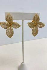 Theia Jewelry Theia Jewelry Large Plumeria Earrings