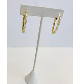 Theia Jewelry Theia Jewelry Delia Baguette Hoop Small Earring
