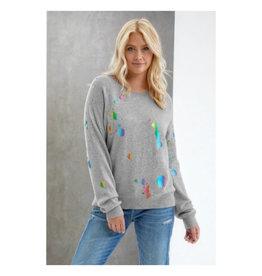 Brodie Cashmere Brodie Cashmere Rainbow Foil Sweatshirt