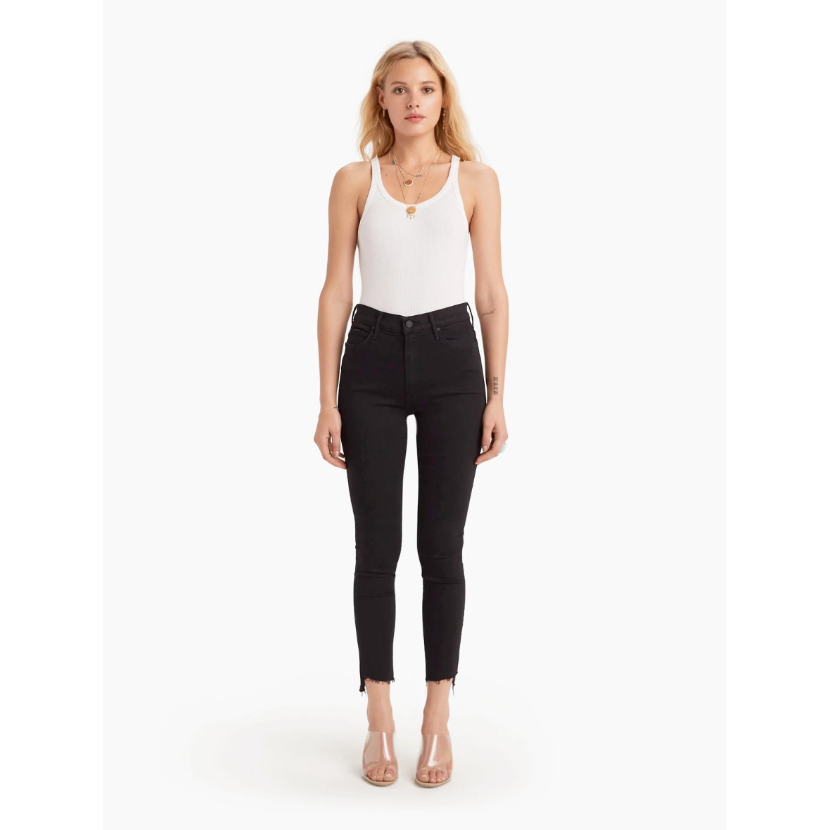 Mother Mother Stunner Zip Ankle Step Fray