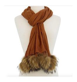 Randi & Will Randi & Will Wrap W/ Fur Poms
