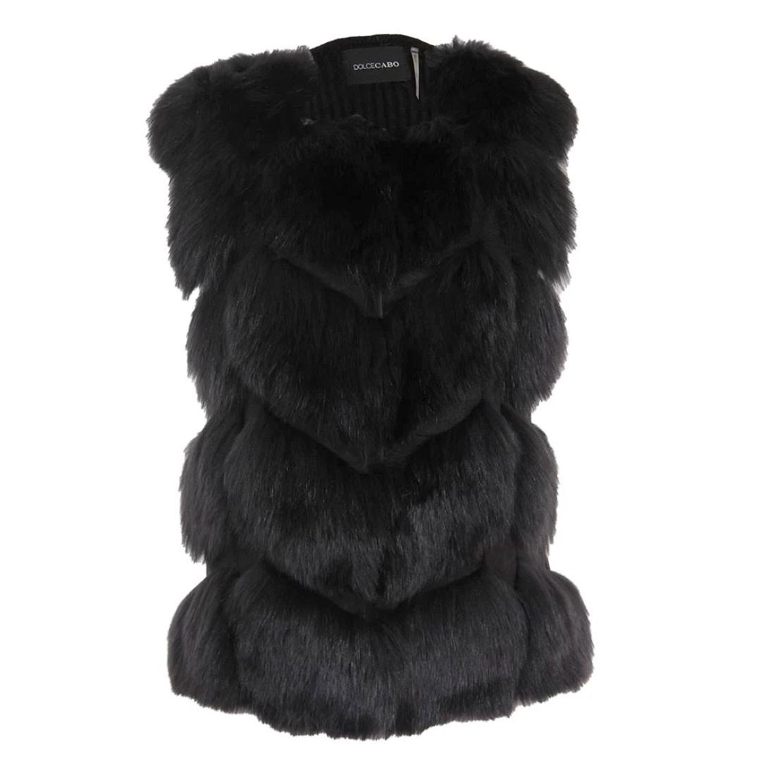 Dolce Cabo Dolce Cabo Paneled Fur Vest