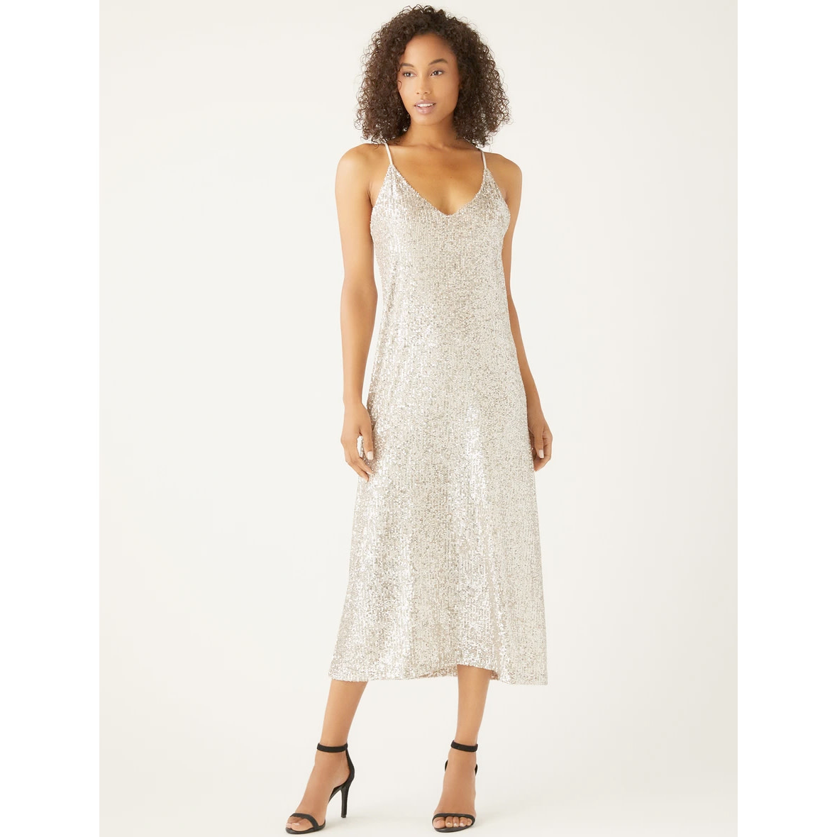 Fifteen Twenty Fifteen Twenty Sequin Slip Dress