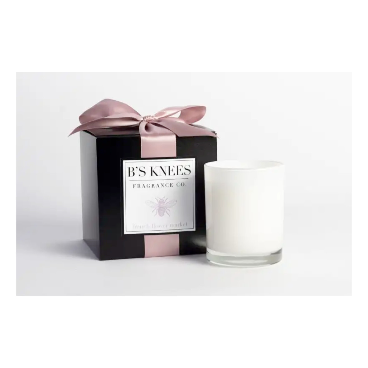 B's Knees Fragrance Co. B's Knees French Flower Market 1 Wick White Candle