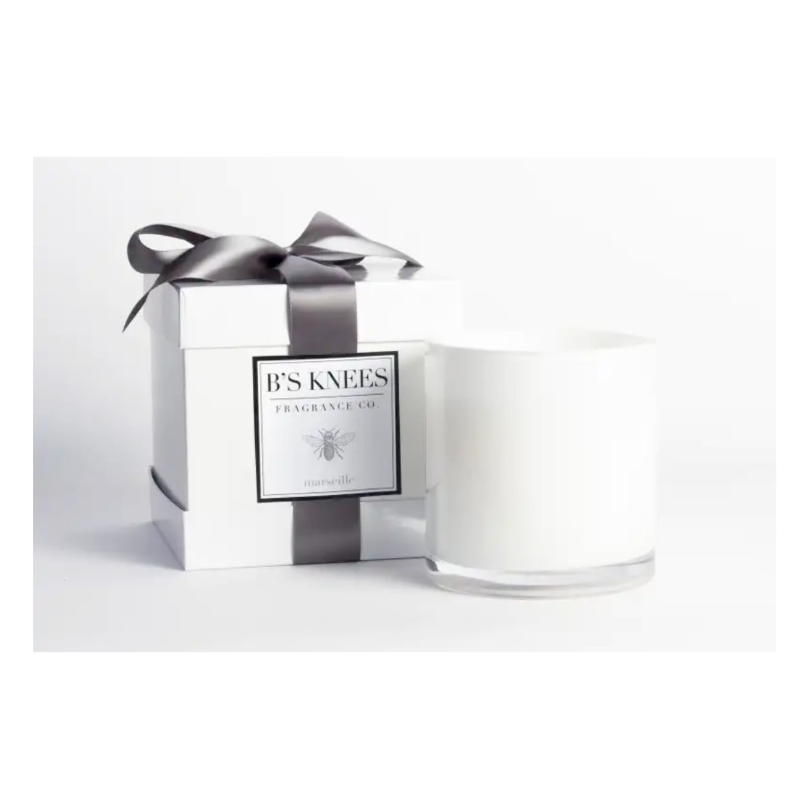 B's Knees Fragrance Co. B's Knees 3 Wick Candle White