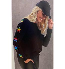 Brodie Cashmere Brodie Star Sleeve Foil Sweater