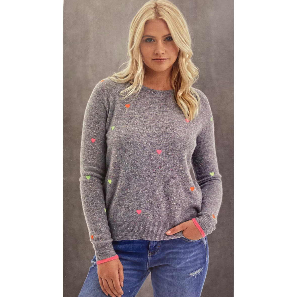 Brodie Cashmere Brodie Little Heart Mini Sweater