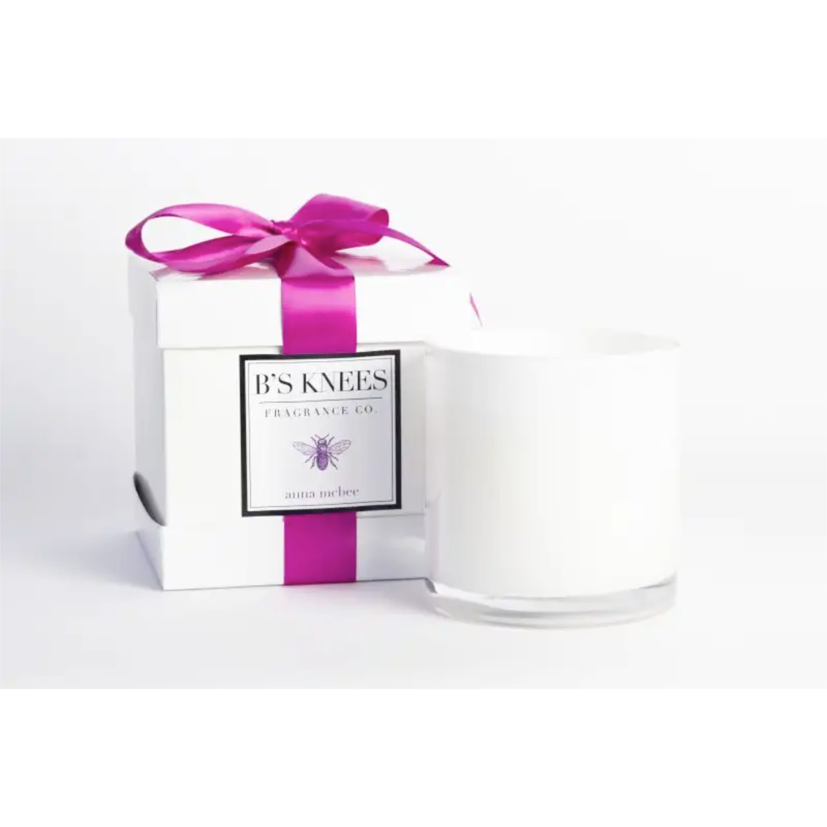 B's Knees Fragrance Co. B's Knees Anna McBee 3 Wick White Candle