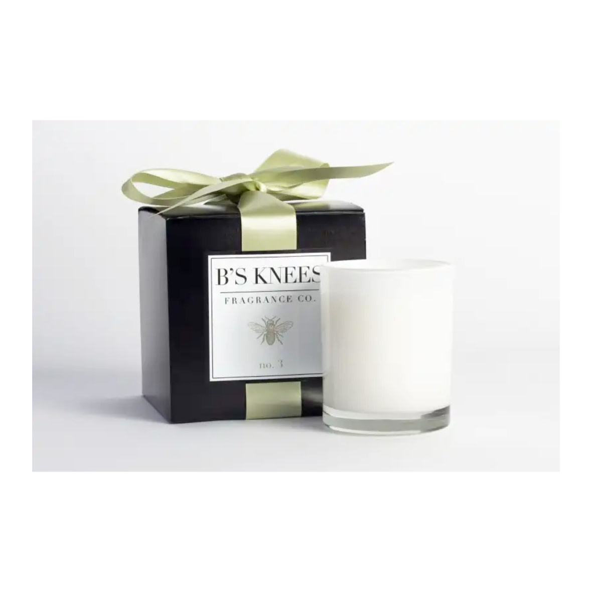 B's Knees Fragrance Co. B's Knees No 3 One Wick White Candle
