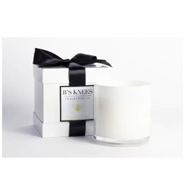 B's Knees Fragrance Co. B's Knees  Bergamont di Capri 3 Wick White Candle