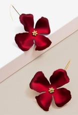 Zenzii Zenzii Threader Pull-Through Earring Metallic Red