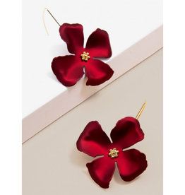 Zenzii Zenzii Threader Pull-Through Earring Metallic Red