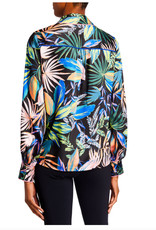 Milly Milly Juliette Tropical Palm Button Down Top