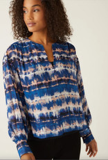 Fifteen Twenty Fifteen Twenty Shirred Blouson Sleeve Top
