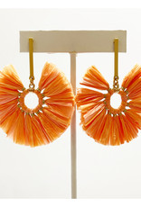 Virtue Jewelry Virtue Jewelry Circle Raffia Earring Peach