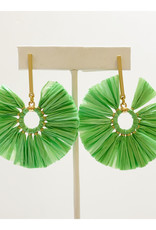 Virtue Jewelry Virtue Jewelry Circle Raffia Earring Green