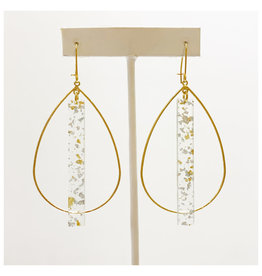 Virtue Jewelry Virtue Jewelry Acrylic Double Bale Hoop Gold/Silver