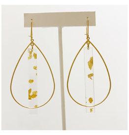 Virtue Jewelry Virtue Jewelry Acrylic Double Bale Hoop Gold