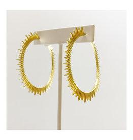 Virtue Jewelry Virtue Jewelry Large Sunburst Hoop Gold