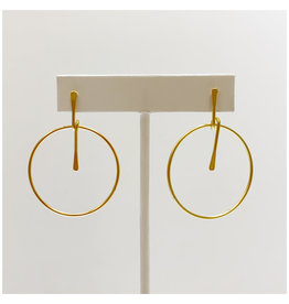 Virtue Jewelry Virtue Jewelry Stick Hoop Gold